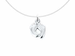 """Collier invisible argent 925 """"Petits pied"""""""