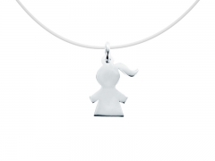 "Collier invisible argent 925 ""Fille"""