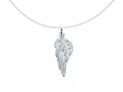 """Collier invisible argent 925 """"Aile d'ange"""""""
